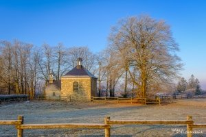 The Chapelle Fischbach near the Baraque Michel in the High Fens in Belgium